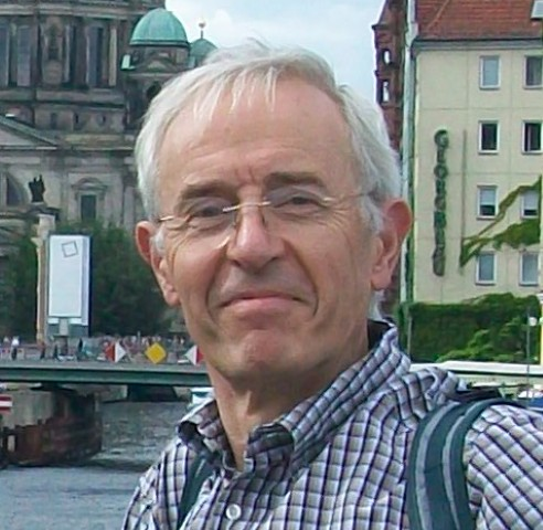Francis Howlett looking smug in front of the Spree with the Berliner Dom in the background